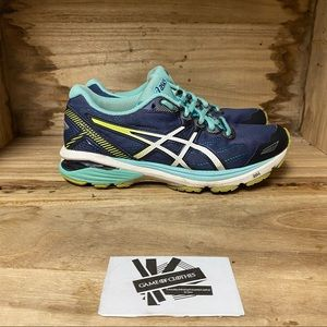 ASICS gt 1000 blue white running sneakers shoes